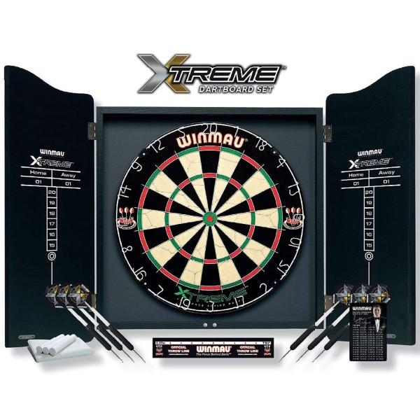 "Dartboard-Cabinet Set ""Xtreme"" inkl. Zubehör"