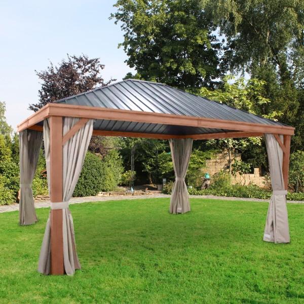 Luxus-Hardtoppavillon, Seitenteile nicht enthalten!