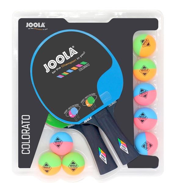 """Tischtennis Schlägerset """"Colorato"""" mit 2 Schlägern und 8 Bällen"""