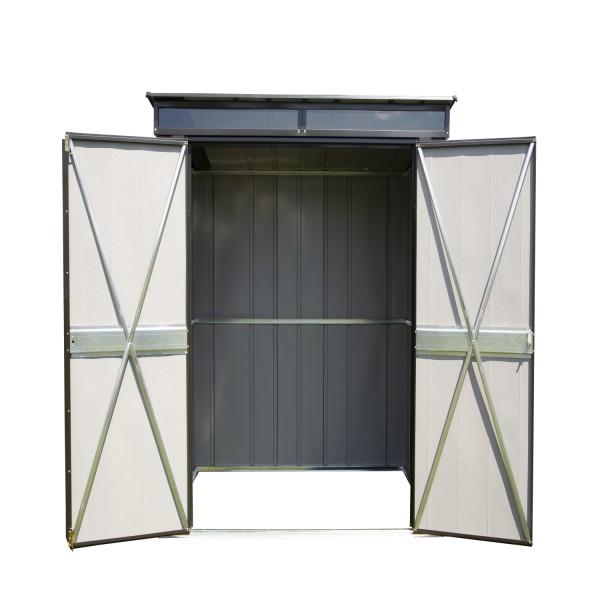 pultdach ger tehaus 6 x 4 metall ger teh user. Black Bedroom Furniture Sets. Home Design Ideas