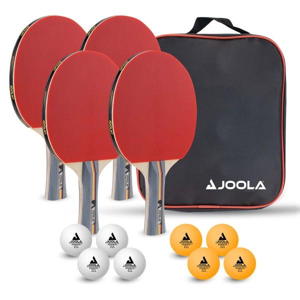 """Tischtennis Schlägerset """"Team School"""" mit 4 Schlägern und 8 Bällen"""